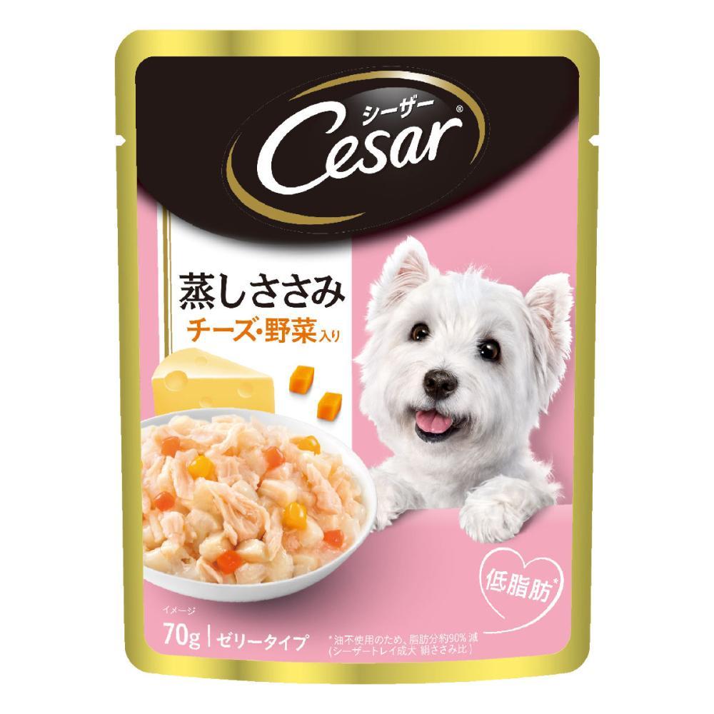 マースジャパン シーザーパウチ 蒸しササミチーズ野菜入り 70g