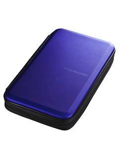 サンワ ブルーレイディスク対応 セミハードケース 56枚収納 FCD-WLBD56BL