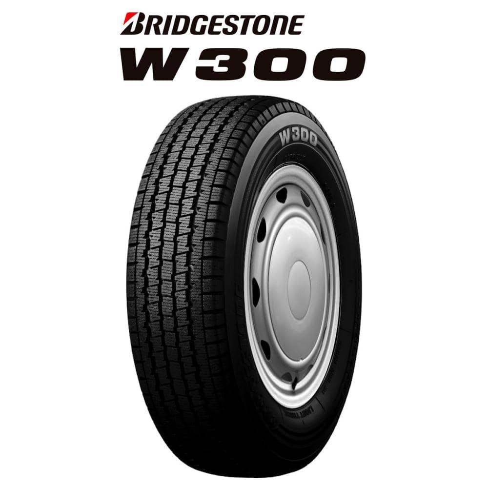 ブリヂストン W300 145R12 6PR スチールホイール 4本セット
