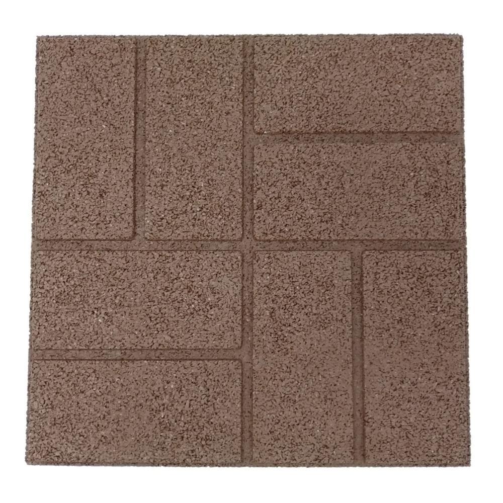 ラバータイル ブラウン 45×45×2