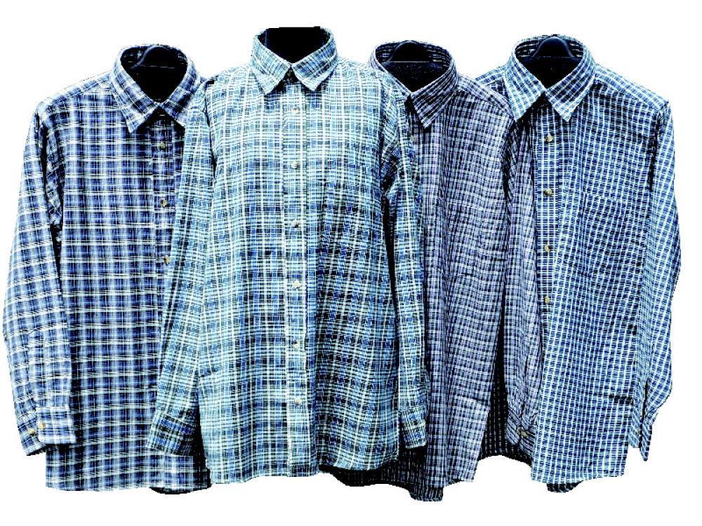 紳士格子シャツ