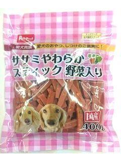 Pet ami ササミやわらかスティック 野菜入り400g