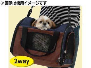 Pet ami 折畳みキャリー ネイビー/ブラウン