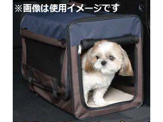 Pet ami 折畳みケージ ネイビー/ブラウン