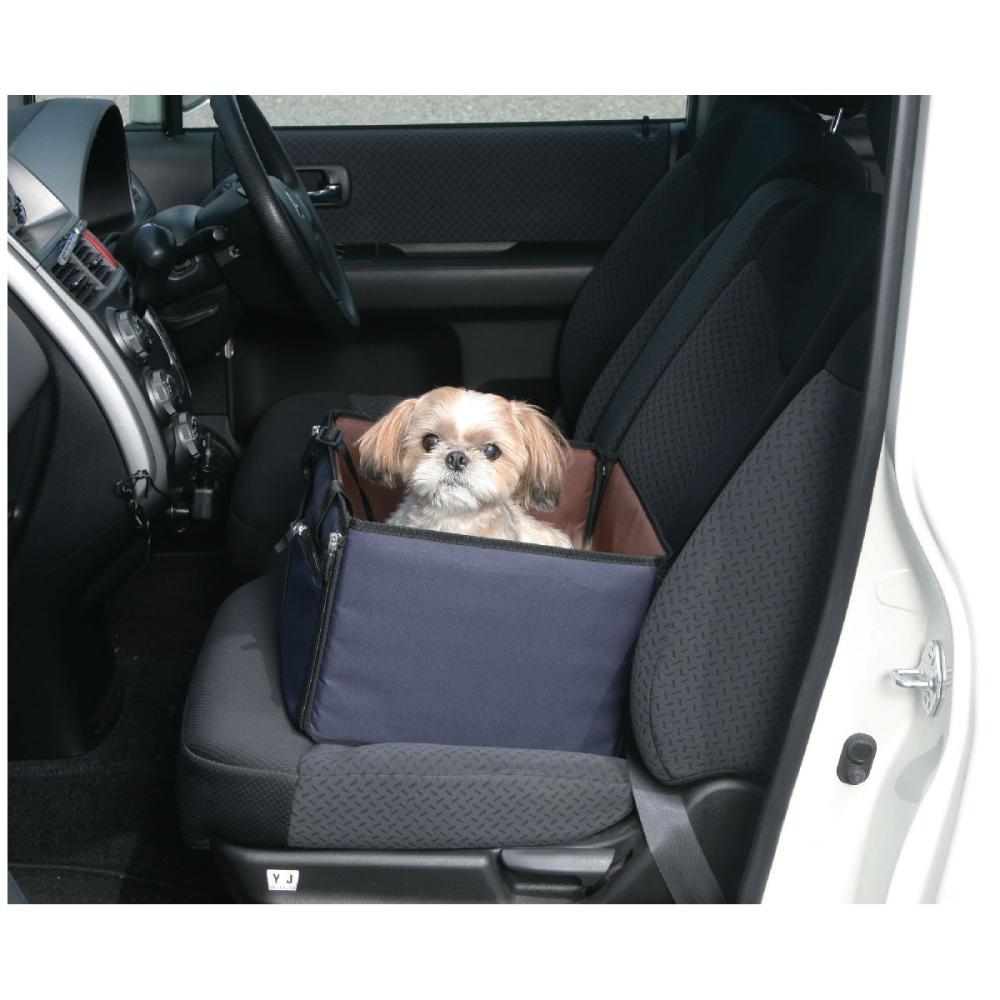 Pet ami ドライブ用ケージ Mサイズ ネイビーブラウン