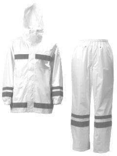 視認性レインスーツ ホワイト BEL 3810