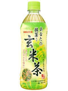 サンガリア あなたの抹茶入り玄米茶 500ml