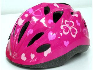 キッズヘルメット ハート ピンク 46401
