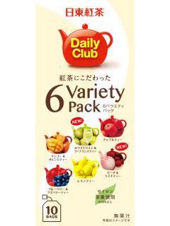 日東紅茶 デイリークラブ 6バラエティパック 10パック
