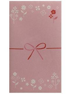 モーノクラフト ポチ袋 花柄プチ ピンク