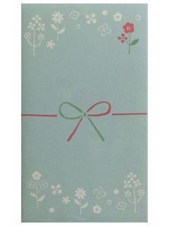 モーノクラフト ポチ袋 花柄プチ ブルー