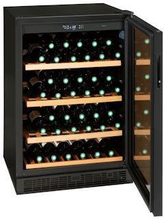 三ツ星貿易 ワインクーラー 150L ブラック MB-6150C