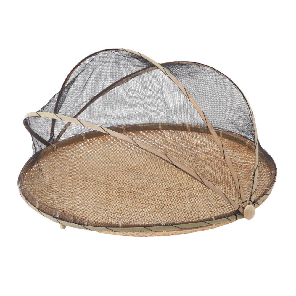 網付き平型竹ざる 丸 Φ65cm