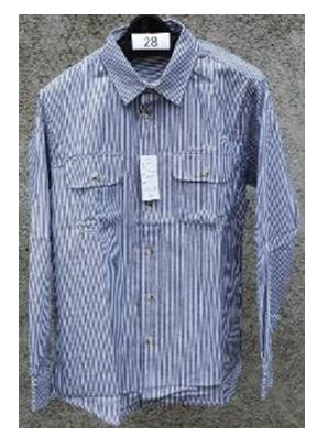 紳士ヒッコリーシャツ 紺 各サイズ