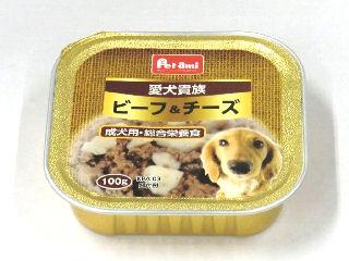 Petami 愛犬貴族 トレイ ビーフ&チーズ100g