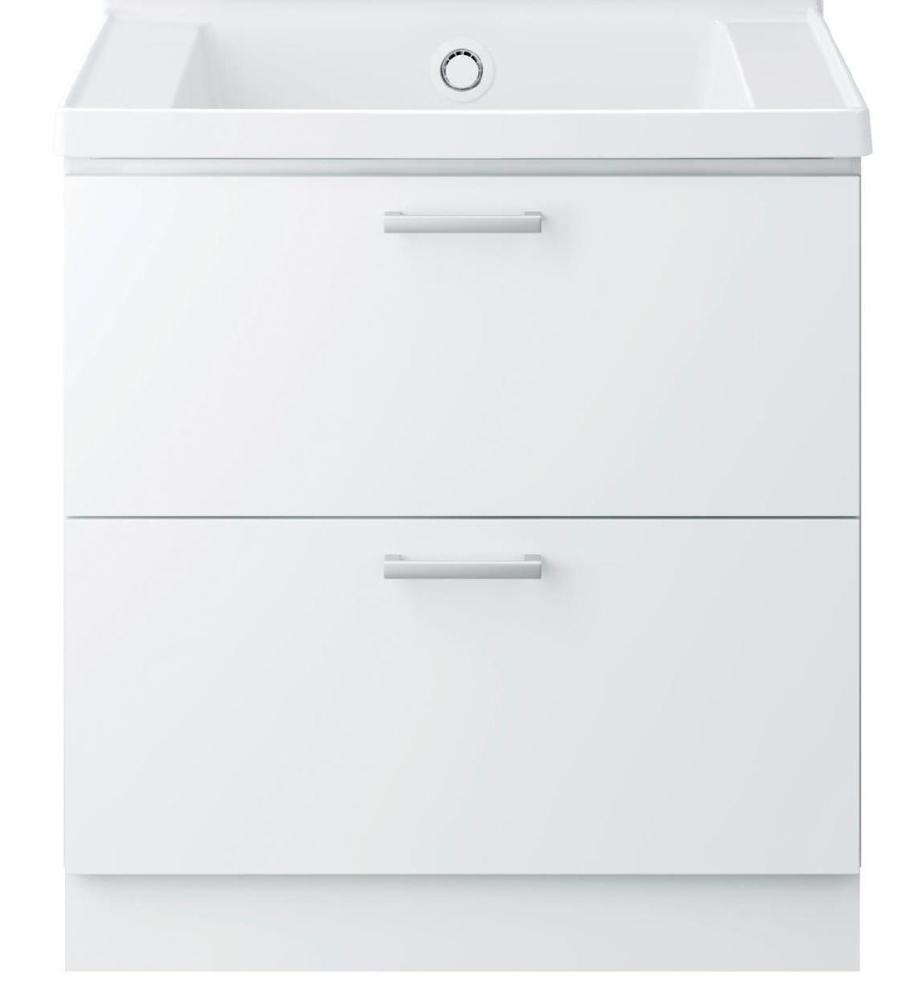 TOTO 洗面化粧台(KZ) 間口750 2段引出 パナシェホワイト LDCC075BCGGG1W