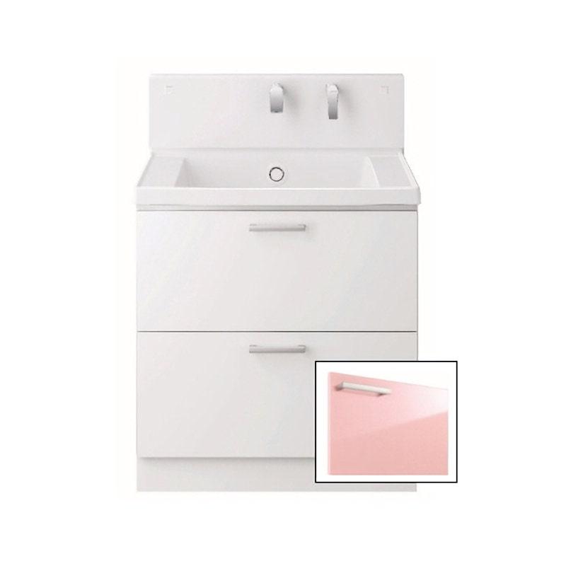 TOTO 洗面化粧台(KZ) 間口750 2段引出 パナシェピンク LDCC075BCGGG1P