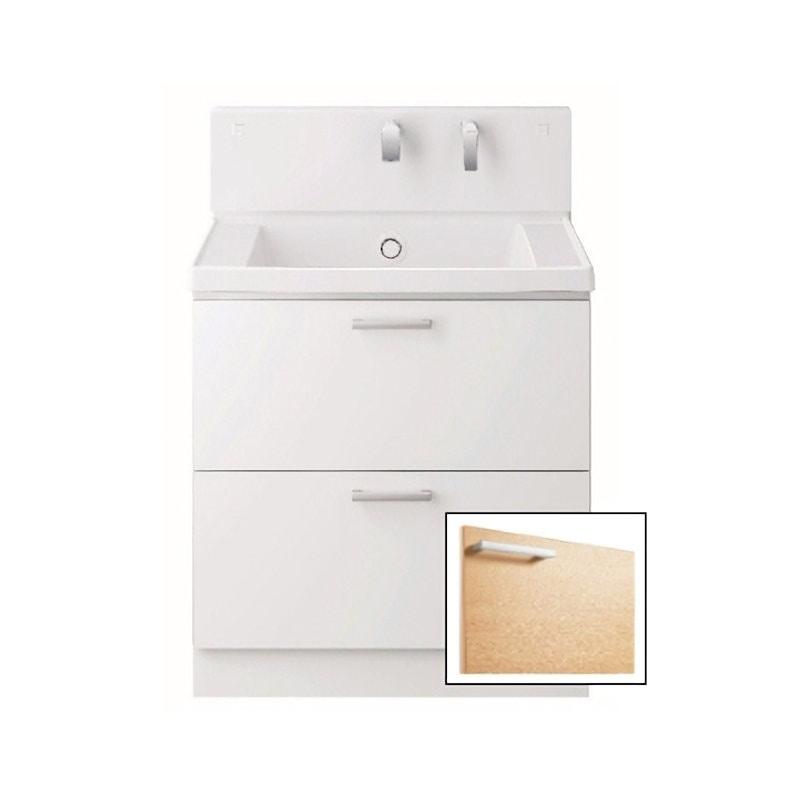 TOTO 洗面化粧台(KZ) 間口750 2段引出 ルースミルベージュ LDCC075BCGGG1E