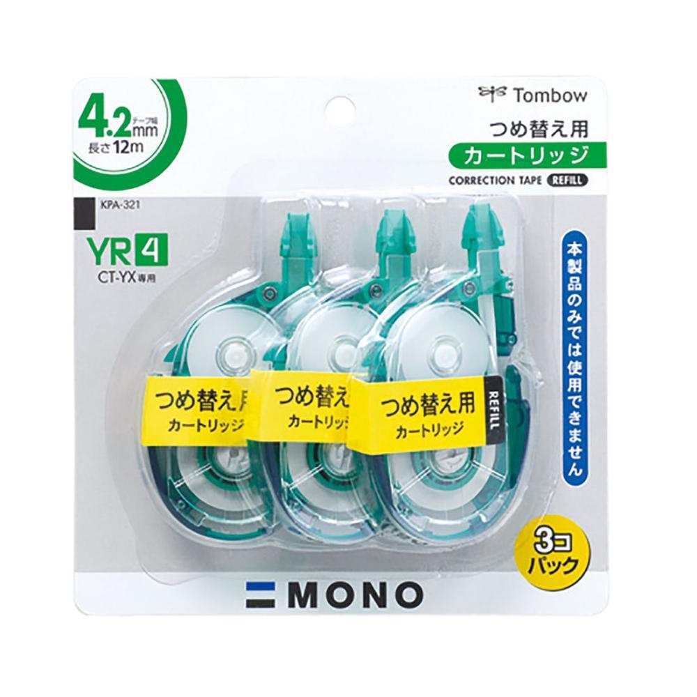 トンボ鉛筆 修正テープ MONO 4.2mm幅 3個パック YR4