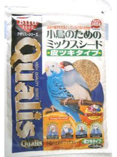 クオリス 小鳥のためのミックスシード 皮つきタイプ 3.6kg