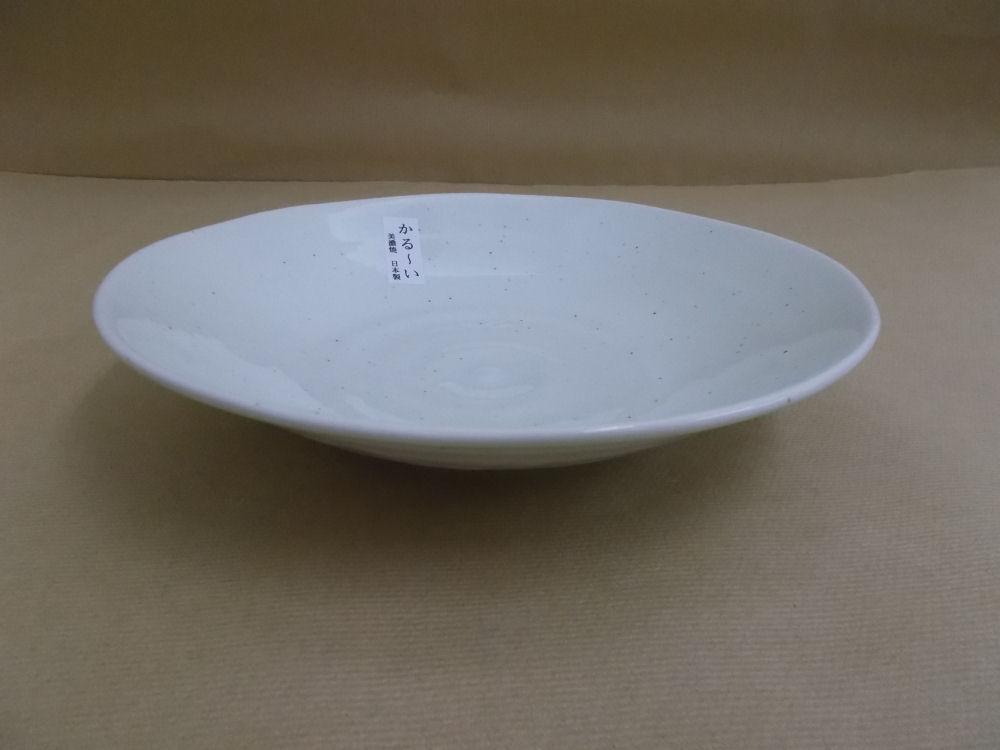 粉引 軽量深皿22.5cm 美濃焼