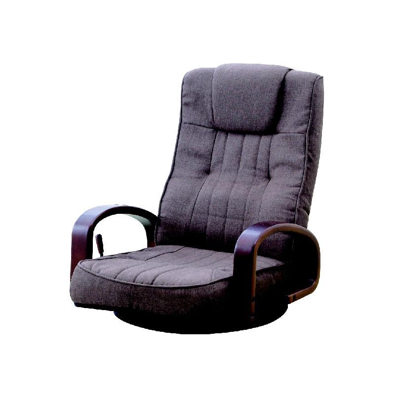 アテーナライフ レバー式 木肘回転座椅子 ブラウン N0734H