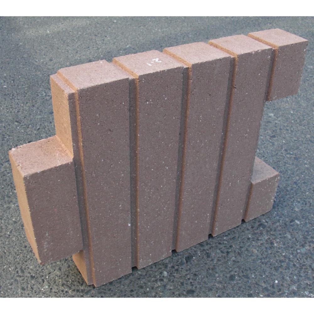 菜園ブロック ブラウン 約40×6×H30cm