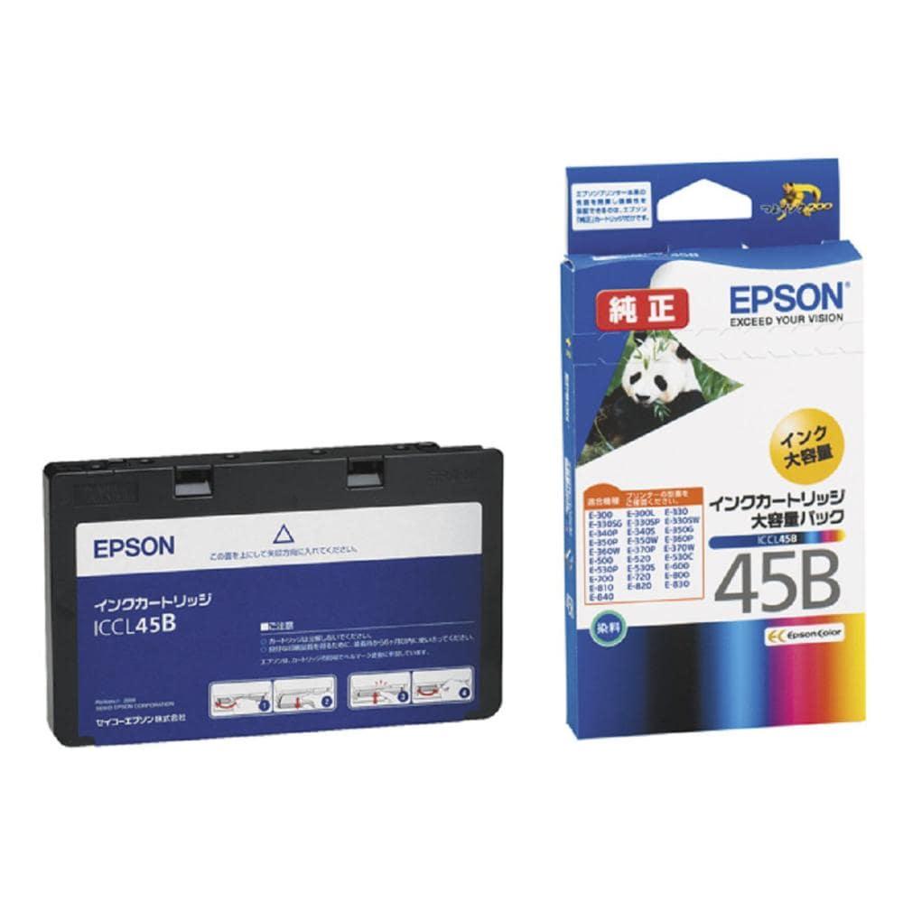 エプソン 純正インクカートリッジ カラー4色一体型 大容量パック ICCL45B