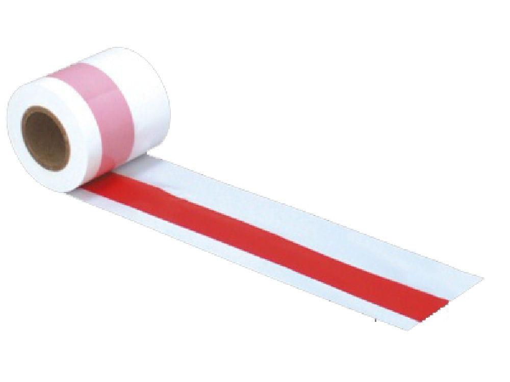 ササガワ 紅白テープ 50m巻 40-3081