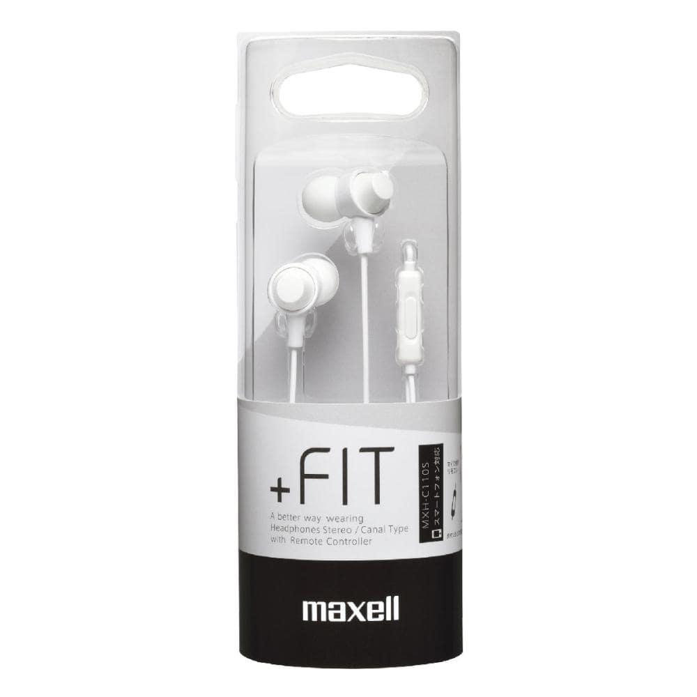 マクセル カナル型マイク付スマートフォン用ヘッドホン ホワイト