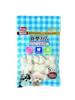 Pet ami 愛犬貴族骨型ガム ミルク風味 S 12本入