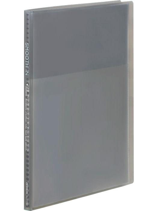 キングジム クリア-ファイル スム-ズイン(透明)20P グレー