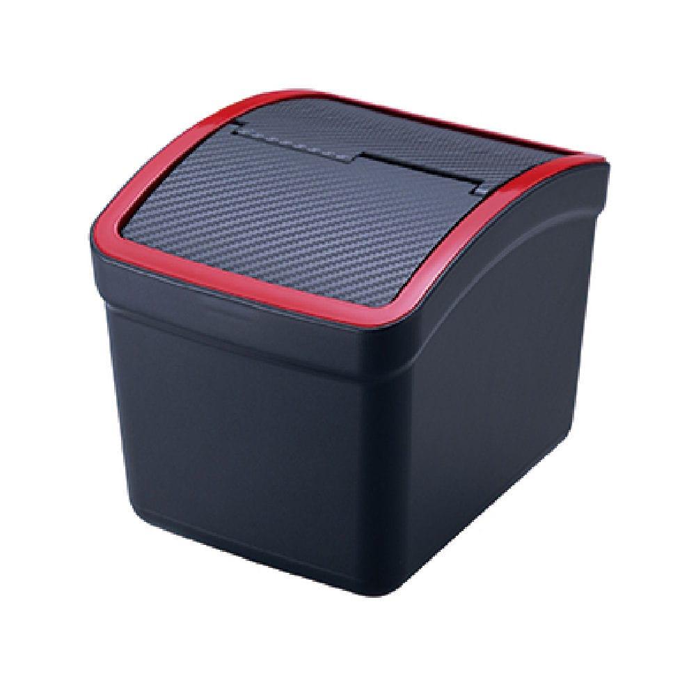 カーメイト おもり付ゴミ箱カーボン調 レッド DZ309