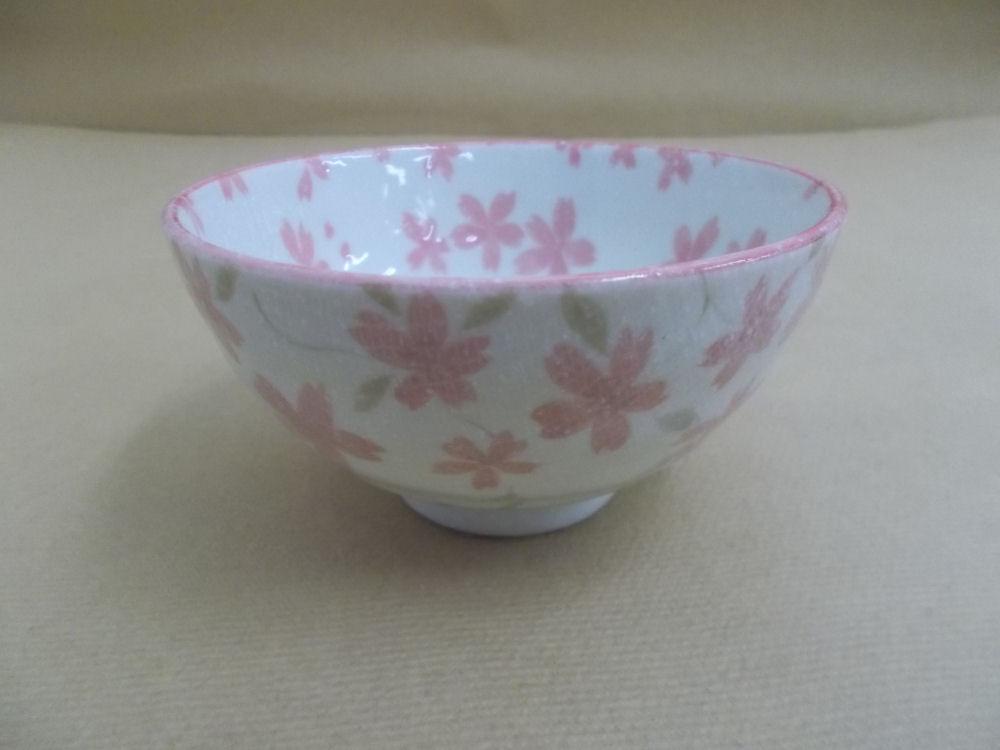 【美濃焼】飯碗 中 布目桜 ピンク
