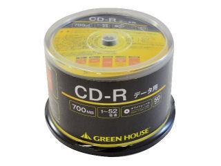 グリーンハウス CD-R 52倍速データ用 50枚