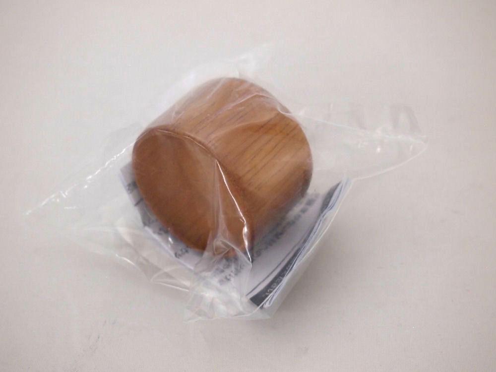 35φエンド部品木製キャップ ブラウン1P