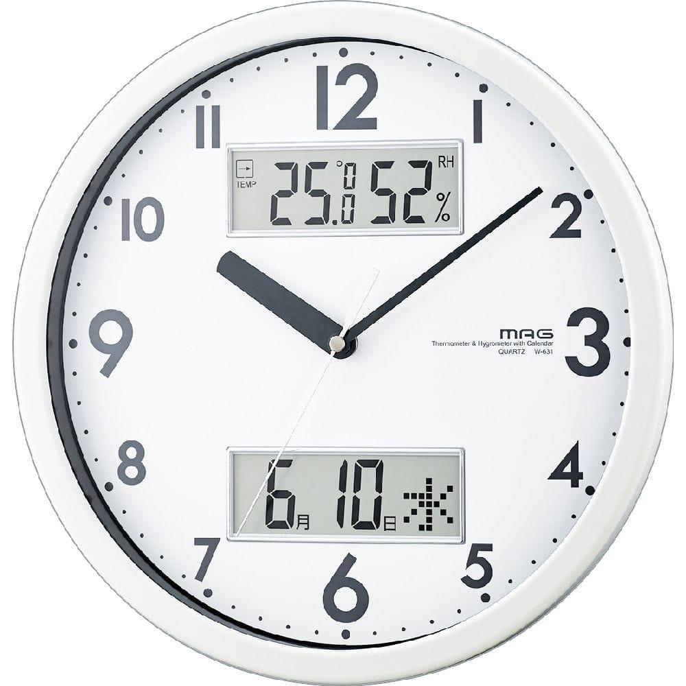 ノア精密 マグ掛時計 ダブルメジャー W-631WH