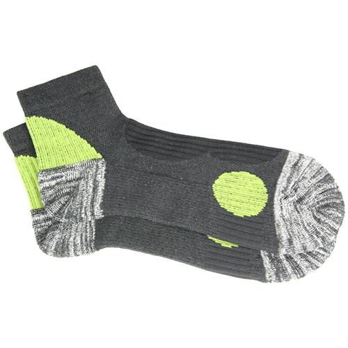 安全靴ソックス STRONG S グレー/グリーン