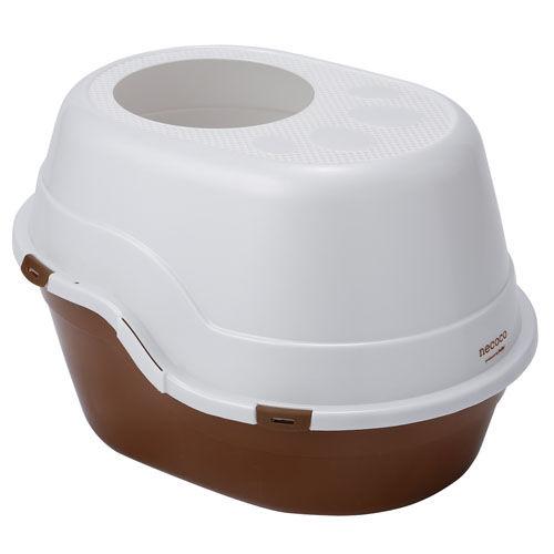 ペティオ ネココnecoco 上から入る猫トイレ ブラウン