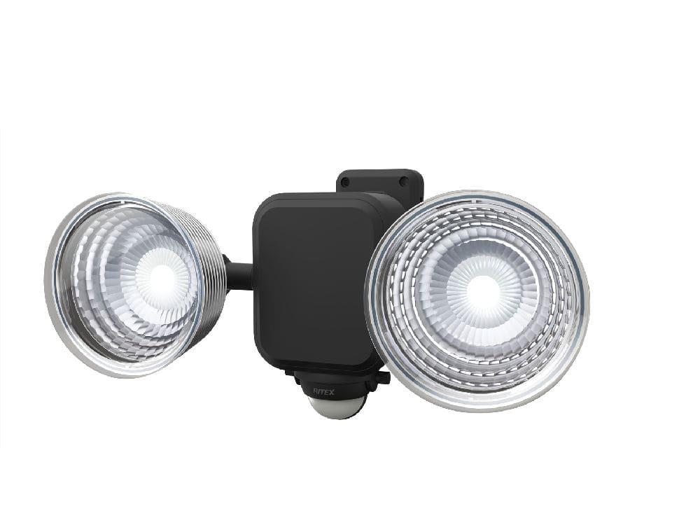 フリーアーム式2灯 乾電池センサーライト LED-265
