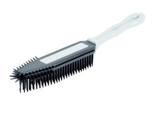 毛とゴミを掻きとるブラシ ハンディ ブラウン