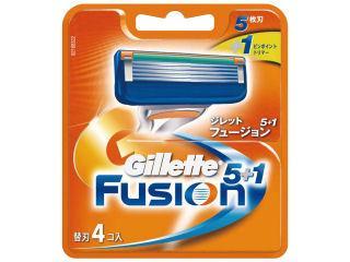 P&G ジレット フュージョン5+1 替刃4個入