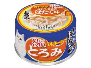 いなば CIAO(チャオ) とろみ ミルキー まぐろ・ささみ ほたて味 80g