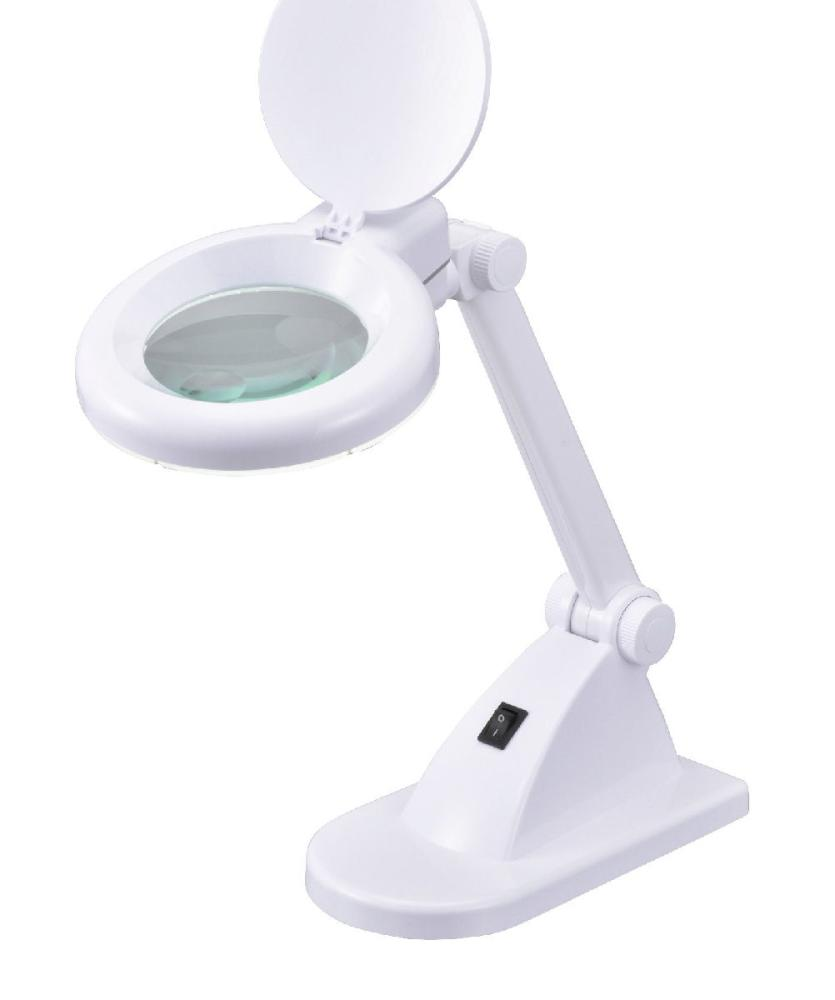 オーム電機 レンズ付LEDスタンド DS-L8092-2-W