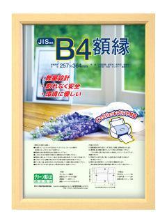 ナカバヤシ 軽量額縁 木地 B4 フ‐KWP-56