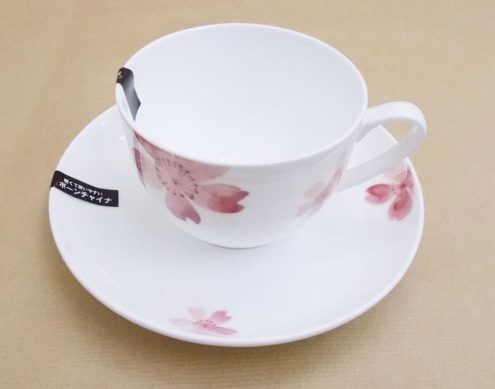 桜 ボーンチャイナ カップ&ソーサー