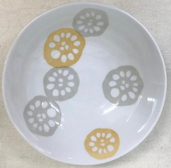 れんこん黄 軽量浅鉢 16.5cm