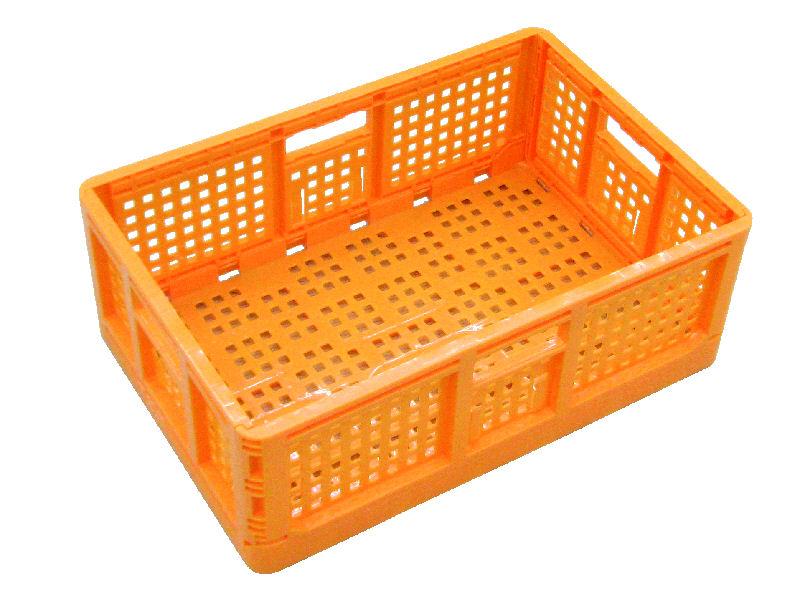 折りたたみコンテナ オレンジ