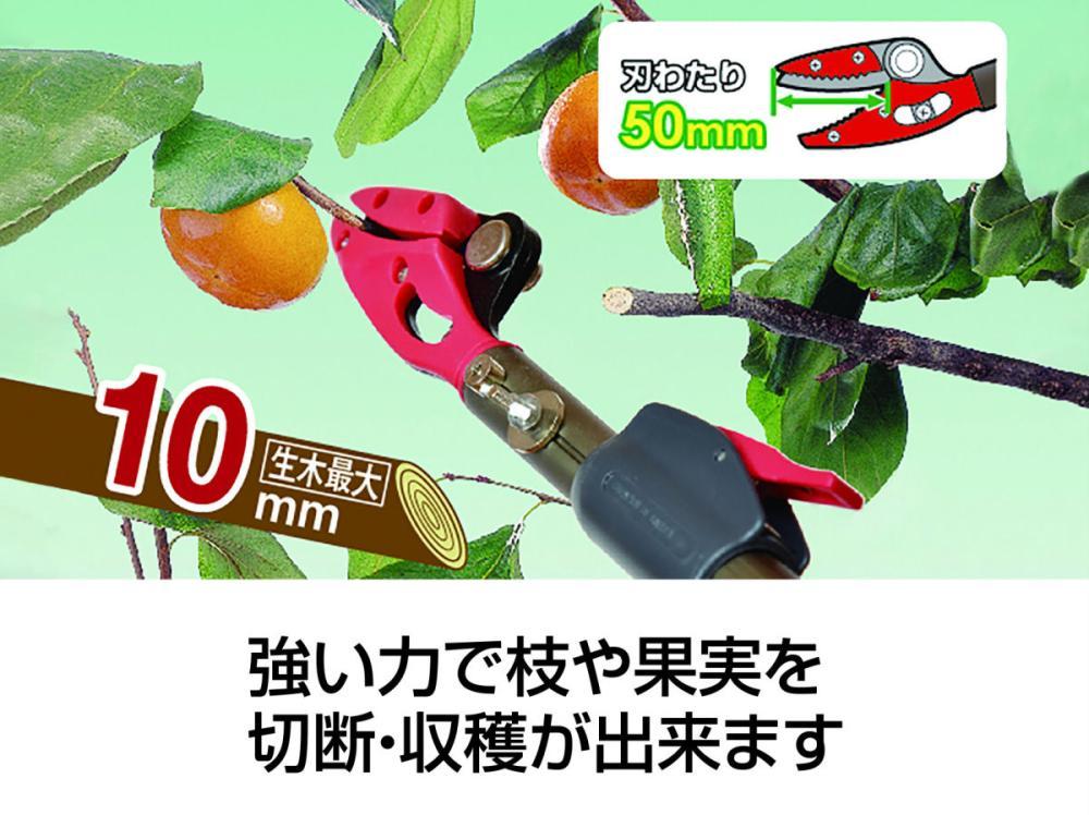 軽量伸縮高枝切鋏 万能刃1.8-3.0m