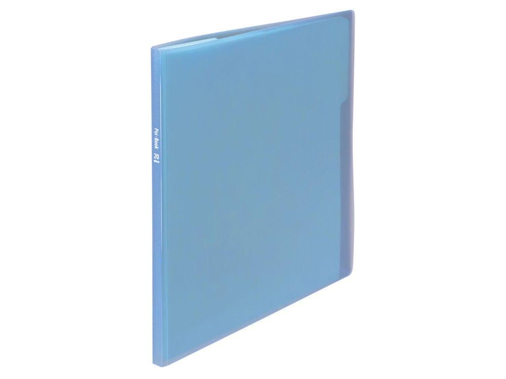 ナカバヤシ クリアホルダーポイブック 10ポケット ブルー CB5035B
